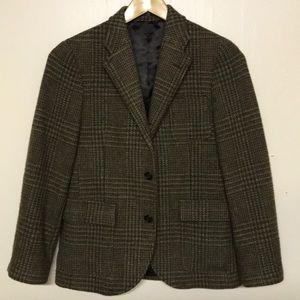 Italy Polo Ralph Lauren Plaid Wool Sports Jacket